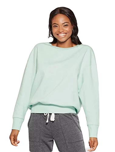 (Xhilaration Sleep Wear Long Sleeve Sweat Shirt Mint Green (Large))