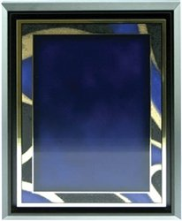 Floater Plate - AS2-710, 7 x 10 Blue/Gold Plate in Floater Frame