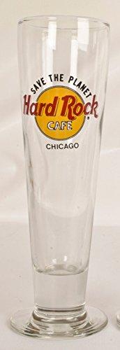 HARD ROCK CAFE CHICAGO Footed Pilsner Beer Glass