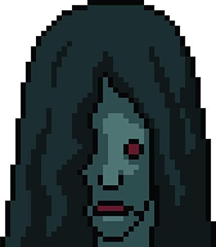 Scary Zombie Lady 8 Bit Anime Character Halloween Cartoon Vinyl Sticker (4