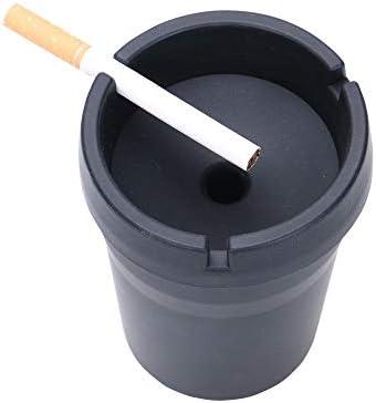 ポータブルカー灰皿フレーム、取り外し可能な黒灰皿、ホームカーシリコーン灰皿