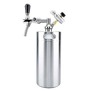 TOPINCN Mini Dispensador de Cerveza Set 3.6L Barril de Acero Inoxidable Portátil con Grifo Grifo Presurizado Home Brewing Craft Sistema de Cerveza para la Fiesta