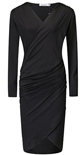 Pleated Long Sleeved Dress - 7