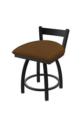 Holland Bar Stool Co. 82118BW001 821 Catalina Low Back Swivel Vanity Bar Stool, Canter - Bar Leather Trica Stool