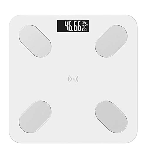 S5 Body Fat Scale Floor Scientific Smart Electronic LED Digital Weight Bathroom Scales Balance Bluetooth APP Android iOS,White(Charging)