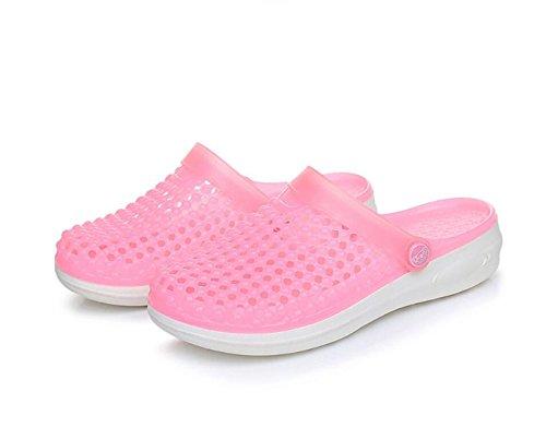 DANDANJIE Womens Garden Clogs PVC Lightweight Quick-dry Slippers Summer Walking Sandals Beach Pool Non-slip Shoes Pink xfFoI7a4v