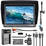 Neewer F100 7-inch 1280x800 IPS Screen Camera Field Monitor Kit: Support 4k input