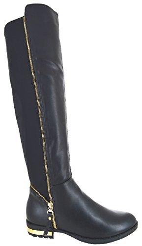 Eyesontoes Overknee Mode Reißverschluss Premium Damen n0O8XwPk