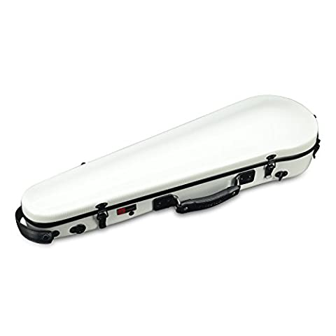 Crossrock CRF3000SVWT Violin Hard-shell Case, 4/4 Full Size in White (Violin Case 4 4 Hard)