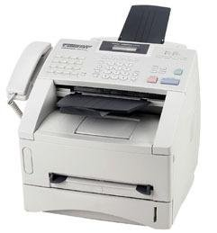 Brother FAX4100E Laser Business Fax,8MB,33.6K Modem,17-2/5''x17''x12-7/10'',GY