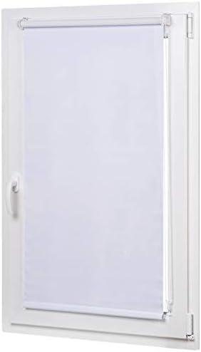 AmazonBasics – Tenda a rullo oscurante con rivestimento in colore coordinato, 56 x 150 cm, Bianco
