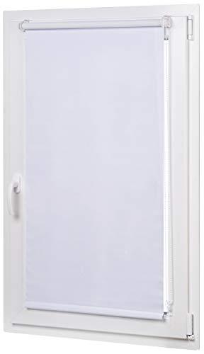 AmazonBasics - Estor opaco y enrollable, con revestimiento de color a juego, 56 x 150 cm, Blanco