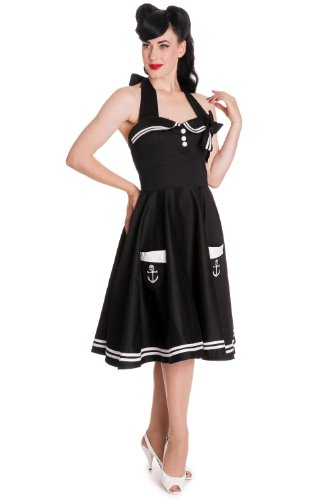 hell bunny black sailor dress - 2
