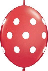 Dot Link (Pioneer Balloon 50 Count Quick Link Big Polka Dots Latex Balloons, 12