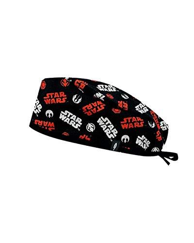 Modelo: Hat Wars - Gorro de Quirófano ROBIN HAT - Negro y Rojo - Pelo Corto - 100% algodón (Autoclave) 2