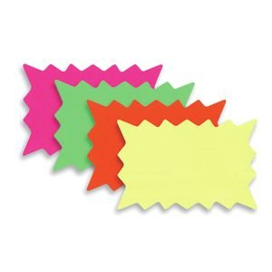 11 x 7 Fluorescent Single Sided Starburst Signs Pack of 100