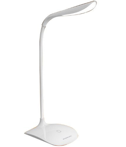 [Mini & Rechargeable] Ramcent eye-friendly LED min task/desk Lamp- 3 Level Dimmable Touch Control/Gooseneck design lasts 8 hours at brightest level after fully charged (natural white)