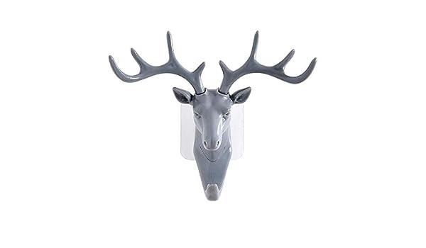 Gancho de pared de la mejor calidad, colgador de cabeza de ciervo ...