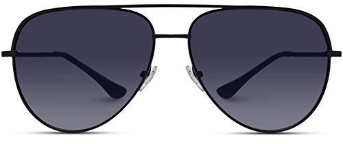 WearMe Pro - Oversized Flat Lens Fashion Designer Inspired Aviator ()