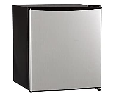 BestAppliance Stainless-Steel 1.6 Cubic Feet Compact Single Reversible Door Refrigerator and Freezer