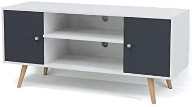 Babette Meuble Tv Scandinave Pieds En Bois Gris Fonce Amazon Co Uk Electronics