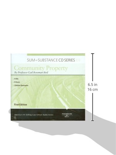 Sum and Substance Audio on Community Property