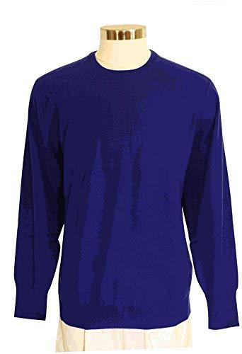 Shephe Men's Round Neck Cashmere Sweater Royal Blue - Round Neck Cashmere Sweater