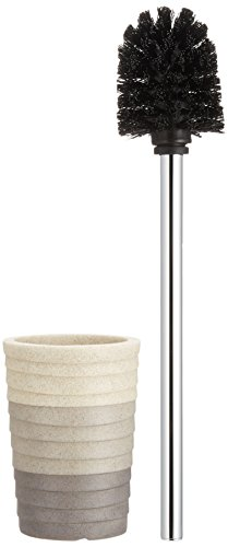 WENKO 21295100 Toilet brush Cuzco, Polyresin, 3.7 x 14.6 x 3.7 inch, Grey