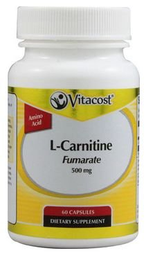Vitacost L-Carnitine Fumarate -- 500 mg - 60 Capsules