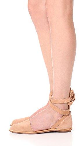 Loeffler Randall Mujeres Dina Wrap Flats Deep Blush