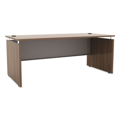 Sedina Series Straight Front Desk Shell, 66w x 30d x 29 1/2h, Modern Walnut, Sold as 1 Each by Generic