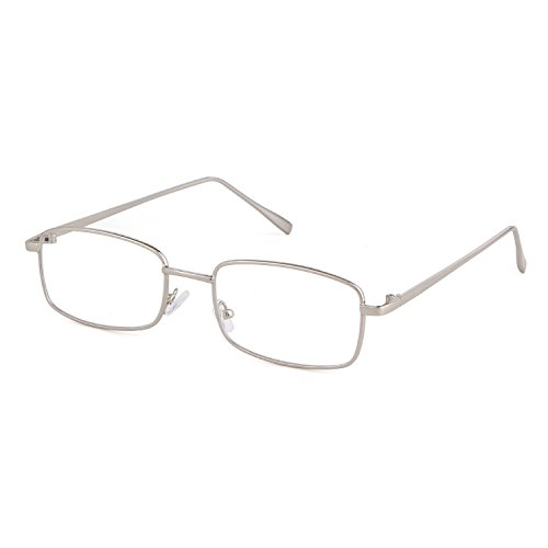 Silver Men Lens Frame Sunglasses Square Clear Retro Fashion Glasses for Women ADEWU 4SqwvCz