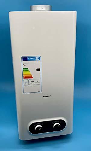 Calentador de agua a Gas Butano/Propano 11 Litros | Camara abierta (Atmosferico) | Bajas Emisiones de NOX | Encendido Automatico | Calificacion Energetica A