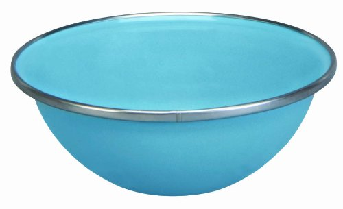 Cinsa 312058 Trend Ware Enamel on Steel Bowl, 17-Ounce, Arctic Blue