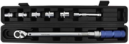 トルクレンチ ソケットセット 220 Nm 1/2インチドライブ - 六角ソケット:17/19/21/22 / 23mm と 収納ボックス