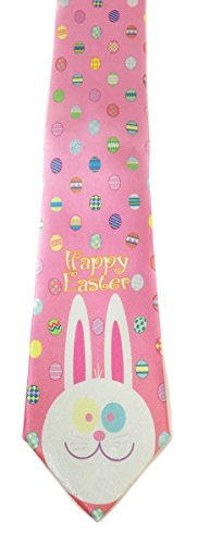 Stonehouse Collection Men's Easter Tie - Easter Eggs Necktie (Tie Eggs Easter)