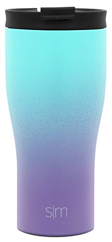 (Simple Modern 16oz Classic Travel Mug with Straw Lid and Flip Lid - Vacuum Insulated Tumbler Coffee Cup - 18/8 Stainless Steel Water Bottle Ombre: Tropical Seas)