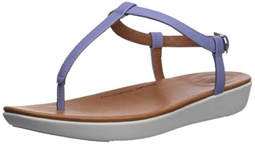 (FitFlop Women's TIA Toe-Thong Sandals-Leather, Frosted Lavendar, 11 M US)