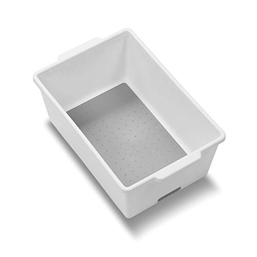 Madesmart Classic Small Deep Bin White Classic Collection Heavy Duty Non Slip Lining And Rubber Feet Bpa Free