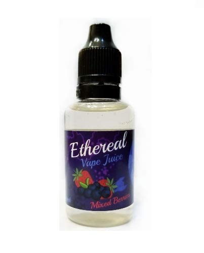 Ethereal Aromatherapy Vape Juice, 0 mg Nicotine 30 ml 100% Nicotine and Tobacco Free e Liquid. (Mixed Berries) (Best E Liquid Without Nicotine)