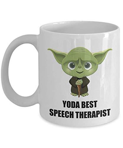 Birthday Christmas Party Gifts Present For Speech Therapist Staff Employee Coworker Men Women Friend Star Wars Yoda Best Personalized Funny Coffee Mug