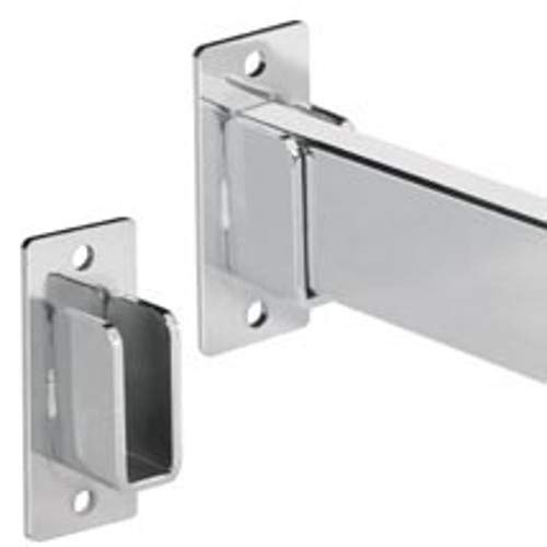 (Rectangular Hangrail Wall Mount in Chrome Plated Steel - Lot of 10)