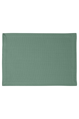 KAF Home Laguna Placemats in Forest, Set of 4, 100% Ribbed Cotton, Machine Washable, 14
