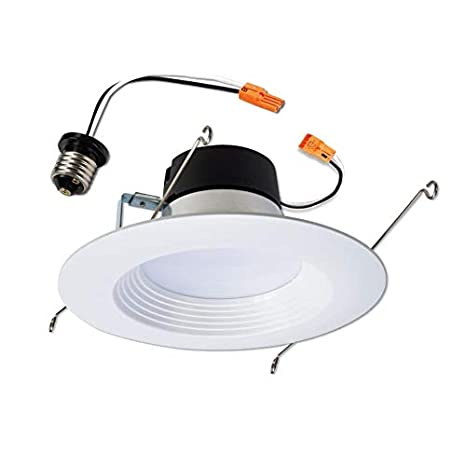 a235416b4ff Halo LT 65-Watt Equivalent White Dimmable LED Recessed Retrofit Downlight (Fits  Housing Diameter  5-in Or 6-in) - - Amazon.com