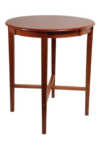 Boraam 70564 Round Pub Table, 42-Inch, Cherry