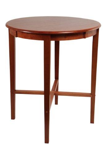 Hardwood Pub Table - Boraam 70564 Round Pub Table, 42-Inch, Cherry