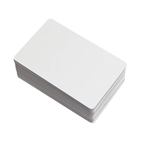 100 Pack CR80 13.56MHz Blank NFC NTAG215 Cards Printable PVC White Card for All NFC Enabled Smartphones and Devices ()