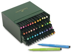 Faber-Castel Pitt Artist Brush Pens (48 Pack), Multicolor by Faber Castell
