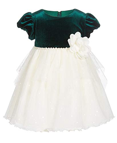 (Bonnie Baby Baby Girls Pearl-Trim Dress (Green, 3-6 Months))