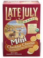 Late July Mini Cheeze Sandwich Cracker 5 Oz (Pack of 12)